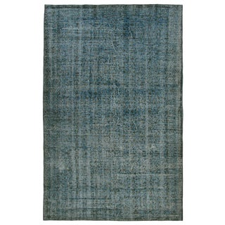 Aqua Overdye Carpet | 6'3 x 8'4 Rug