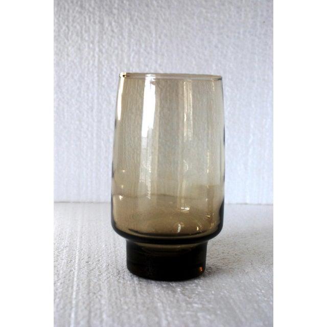 Libbey Mid-Century Tawny Smoke Brown Glasses- Set of 8 - Image 3 of 4
