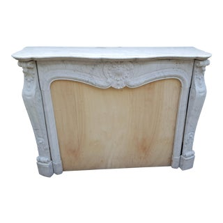 Antique Louis XV Style Carrara Marble Fireplace