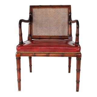 Leather Faux Bamboo Armchair