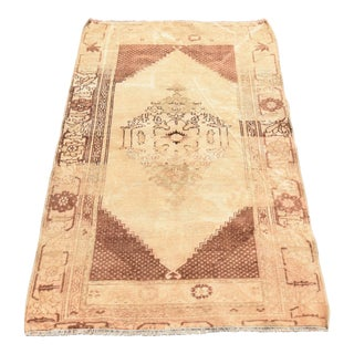 Vintage Turkish Oushak Wool Rug - 2′11″ × 4′7″
