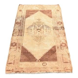 Vintage Turkish Oushak Wool Rug - 2′11″ × 4′7″