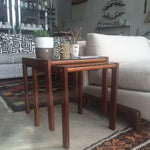 Image of Mid-Century Teak Nesting Tables - A Pair