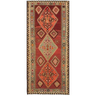 """Qashqai Vintage Persian Kilim - 5'8"""" x 13'4"""""""