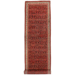 Antique Persian Malayer Runner - 4' X 19'8""