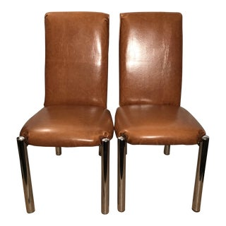 Mid-Century Vinyl Chairs - A Pair