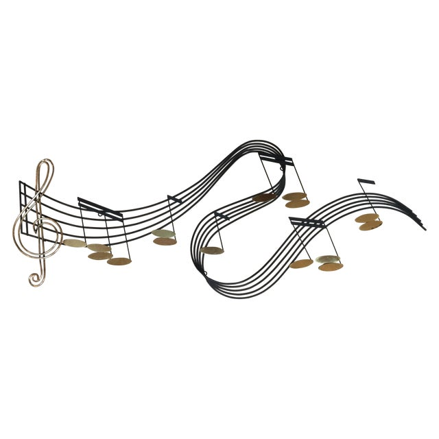 Curtis Jere Musical Note Wall Sculpture - Image 1 of 6