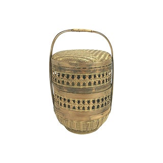 Chinese Antique Dim Sum Basket