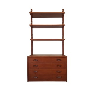 poul cadovius danish mid century modern teak bookcase wall unit