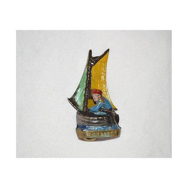 Original Enamel Sailboat Door Knocker - Image 7 of 11