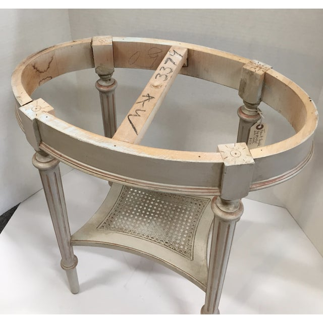 French Marble Top Side Table - Image 9 of 10