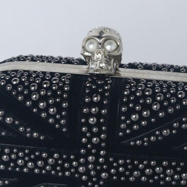 Image of Alexander McQueen Britannia Skull Clutch