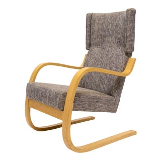 Alvar Aalto model 36/ 401 high back lounge chair