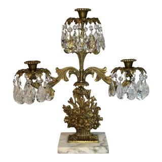 Antique Victorian Crystal Prism Candelabra