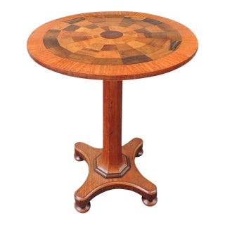 19th C Jamaican Mahogany Round Specimen Table, attributed to Ralph Turnbull