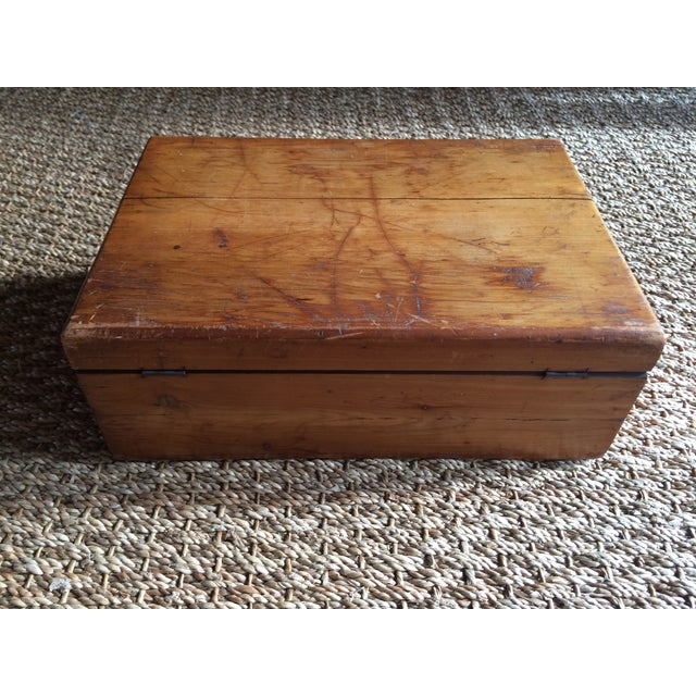Rustic Wooden Storage Box - Image 5 of 6