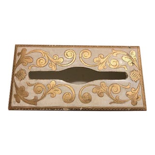 Florentine Gold Tissue Box Holder