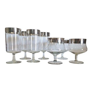 Dorothy Thorpe Iced Tea Glasses & Cocktail Goblets - Set of 7