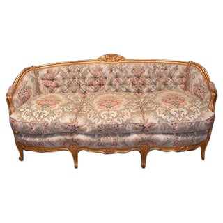 Antique Floral/Gold Living Room Set - Sofa/Chairs