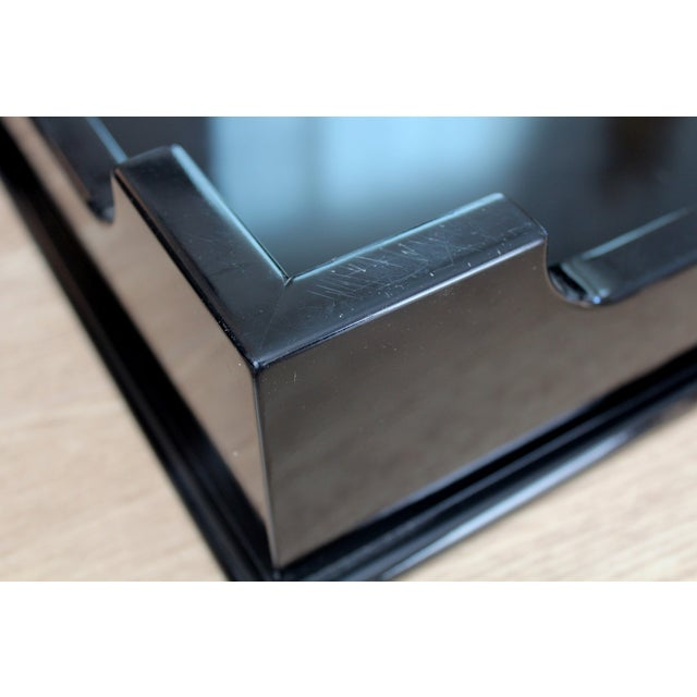 """Oomph """"Edgartown"""" Square Black Lacquer Tray - Image 7 of 8"""