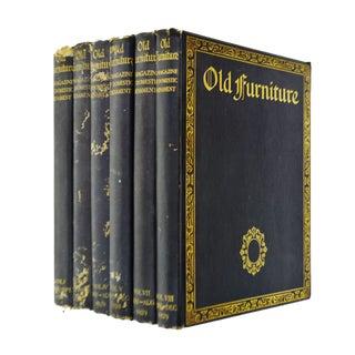 "1920's Vintage ""Old Furniture"" Illustrated Ornament Books- Set of 6"