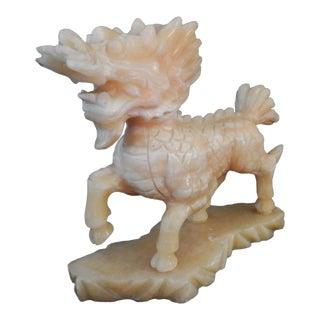 Soap Stone Pixiu Good Luck/Wealth Foo Dog