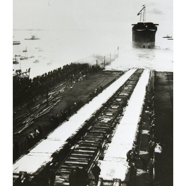 Launching the Normandie, Silver Gelatin Photograph - Image 3 of 4