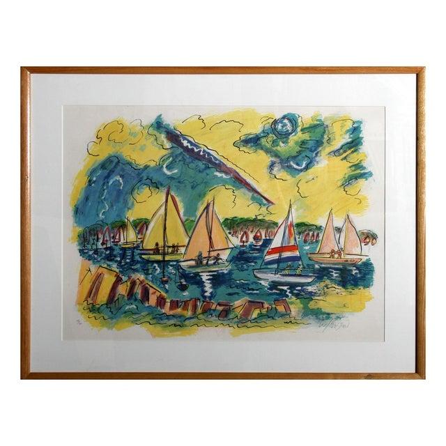 "Wayne Ensrud ""Afternoon Sails"" Lithograph - Image 1 of 3"