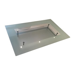 Ligne Roset Modern Glass Top Coffee Table