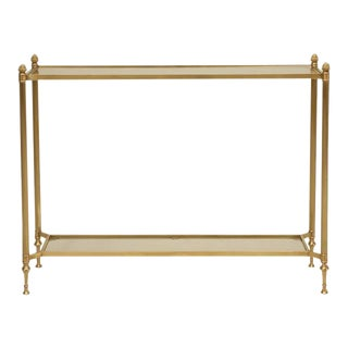 Mid-Century Modern Brass Console Table