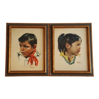 Bettina Steinke Boy & Girl Framed Art