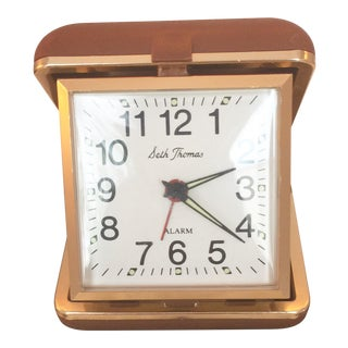 "Vintage ""Seth Thomas"" Wind Up Travel Alarm Clock"