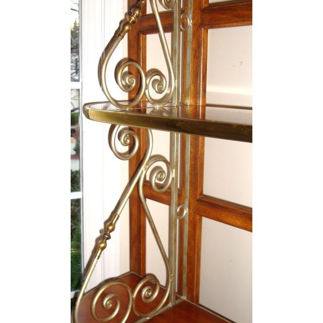 Vintage Brass Pecan Drexel Shelf - Image 6 of 8