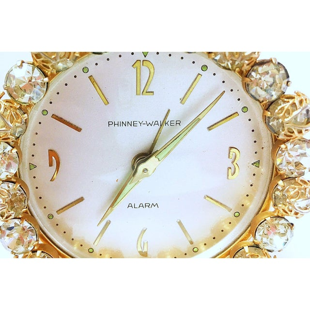 1930s Vintage Phinney-Walker Bejeweled Alarm Clock - Image 8 of 8