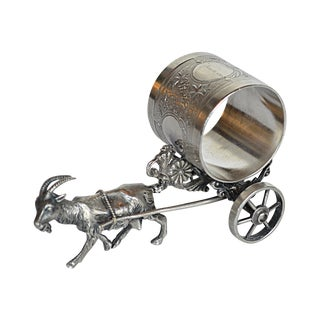 Victorian Goat with Cart Napkin Ring