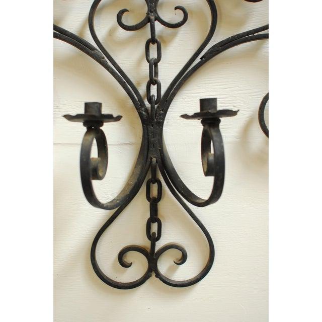 Image of Wrought Iron Wall Candleholder