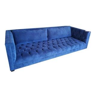 Jaxon Home Bowers Modern Blue Tufted Sofa