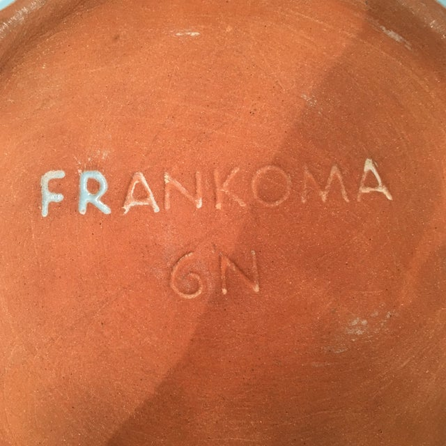 Frankoma Westwind Blue Serving Bowl - Image 6 of 6