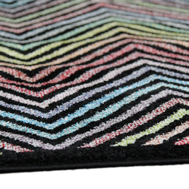 Flawless Multi Color Chevron Rug -- 8'x 11' - Image 3 of 3