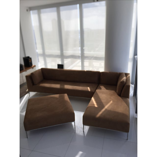 Ligne Roset Modern Ultrasuede Sectional Sofa Chairish