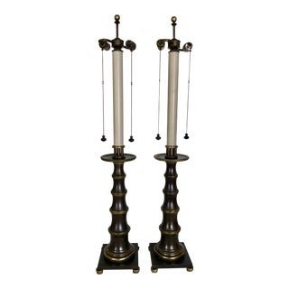 Stiffel Candle Stick Form Table Lamps- A Pair