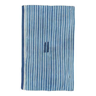 Vintage Indigo Striped Dyed Textile