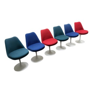 Knoll Multi-Color Tulip Chairs - Set of 6