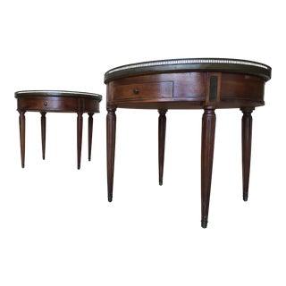 Louis XVI Marble Bouillotte Tables - A Pair