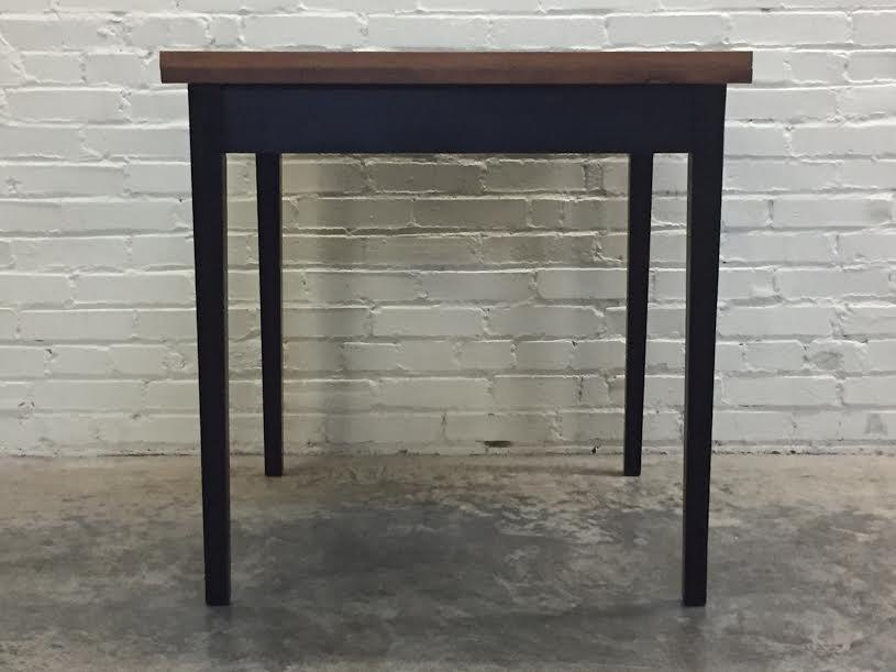 Mid Century Modern Folding Top Dining/Card Table   Image 7 Of 7