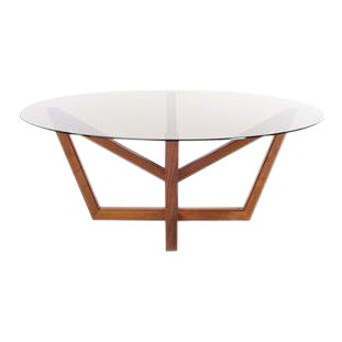 Holly Hunt Modern Obelisk Walnut Dining Table