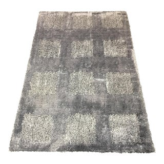 Contemporary Sculpted Steel Gray Area Rug