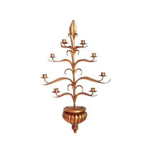 Italian Gilt 8 Candle Sconce