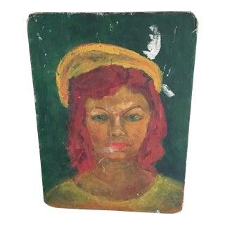 Mid-Century Vintage Portrait of a Girl