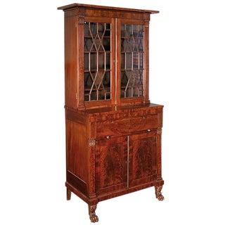 Mahogany Classical Secretary Bookcase